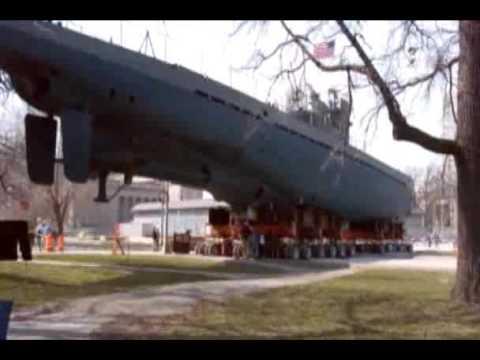 Moving the U-505 Submarine