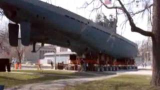 Moving the U-505 Submarine
