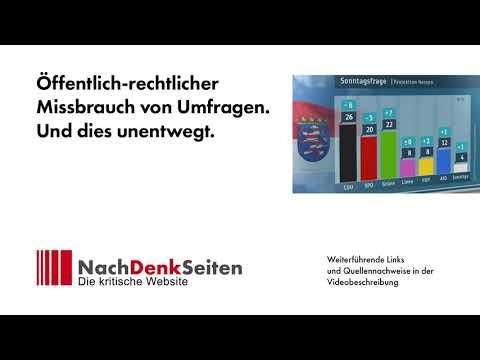 Öffentlich-rechtlicher Missbrauch von Umfragen. Und dies unentwegt | Albrecht Müller