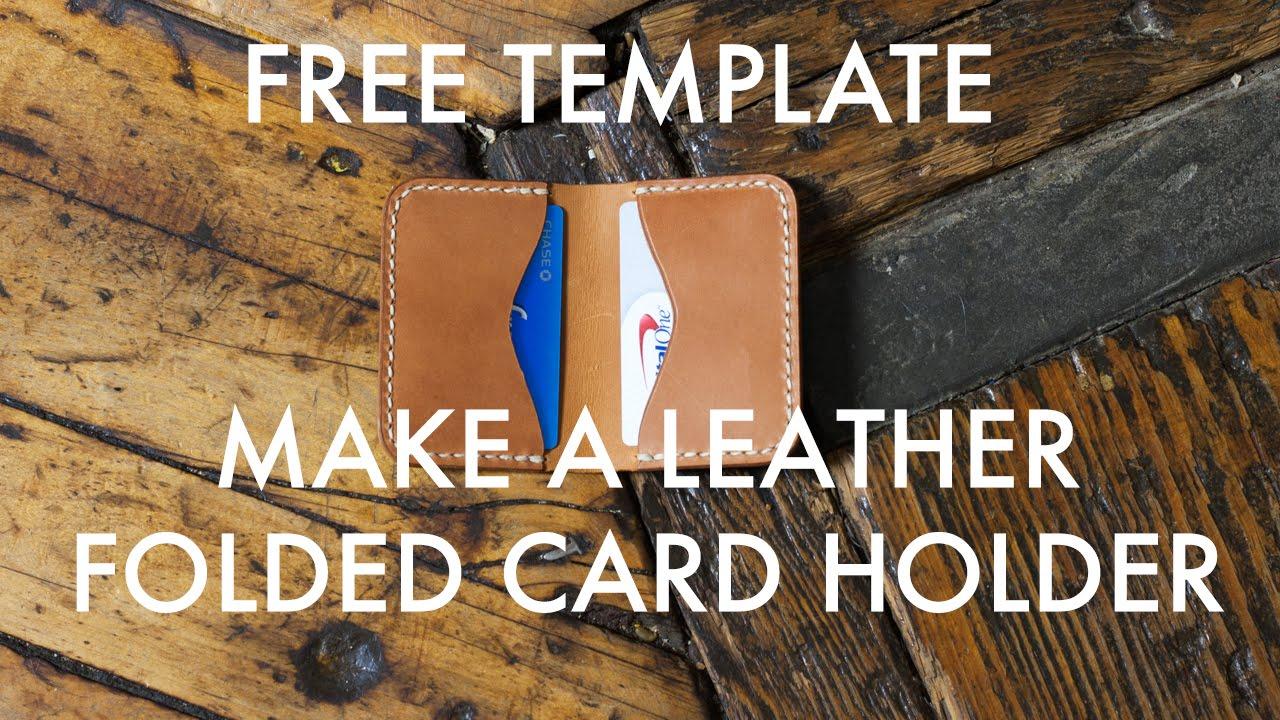 make a folded leather card holder free pdf template build along