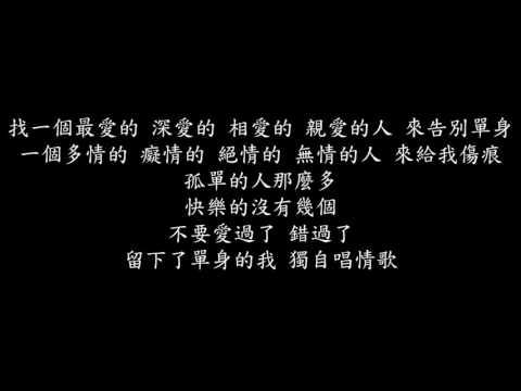 林志炫 單身情歌 karaoke版