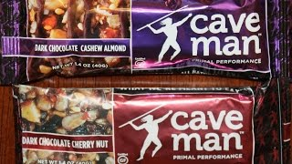 Caveman Foods: Dark Chocolate Cashew Almond & Dark Chocolate Cherry Nut Nutrition Bar Review
