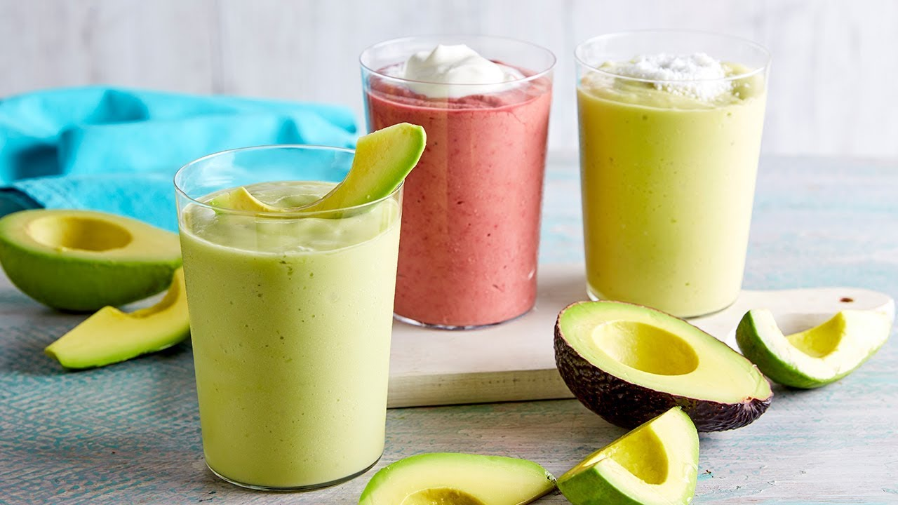 Three Avocado Smoothies Recipe Myfoodbook Avocado Banana