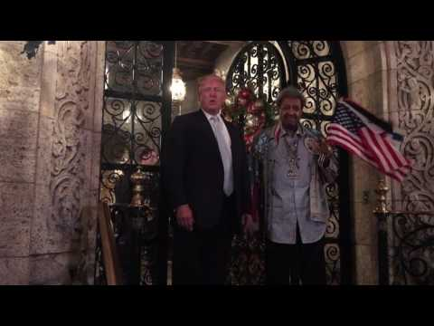 Trump Dodged A Question On Russia During A Bizarre, Impromptu Q&A While Don King Waved The Israeli Flag