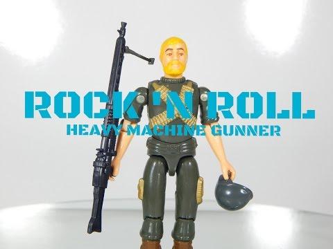 Vintage 1982 G.I. Joe Machine Gunner Rock