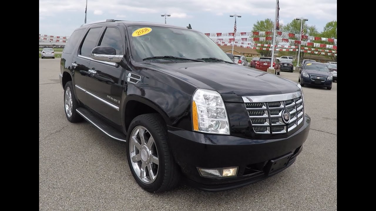 Used 2015 Cadillac Escalade >> Used 2008 Cadillac Escalade Black | Chrome Wheels | Luxury SUV | P10065A - YouTube