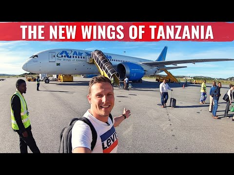 The WORLD's FIRST AIR TANZANIA 787 DREAMLINER REVIEW in BUSINESS CLASS!