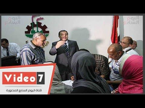 وزير القوى العاملة يتفقد لجان الانتخابات العمالية فى ديوان الوزارة  - 14:23-2018 / 5 / 23
