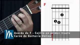 Acorde de F - La cejilla en la guitarra