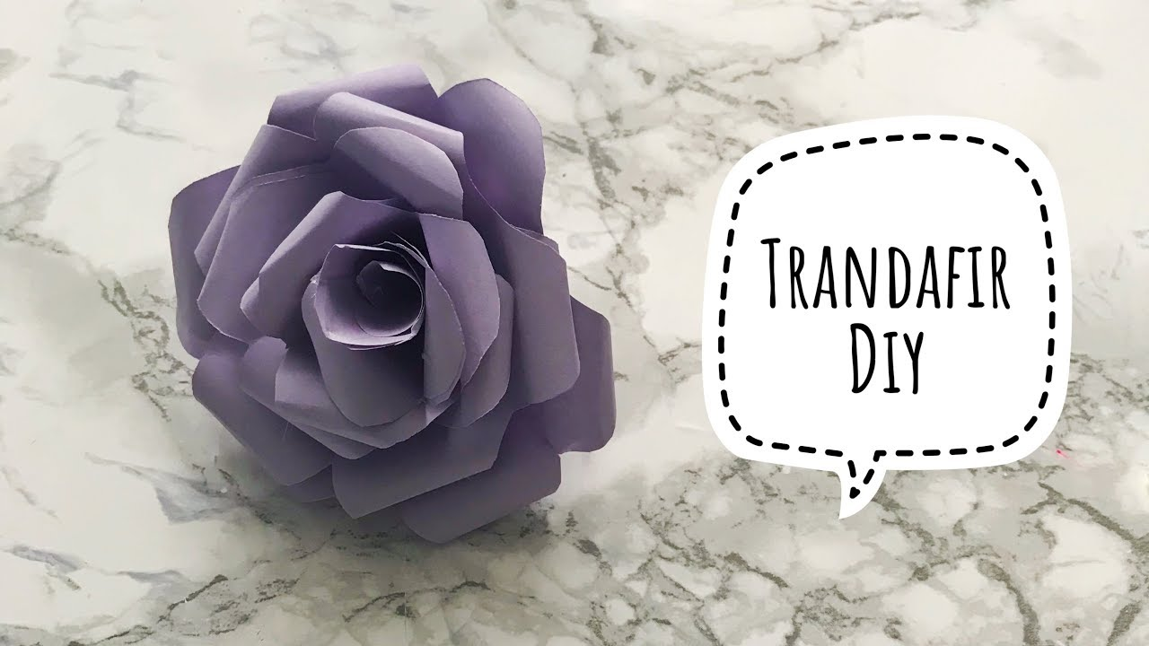 Cum sa Faci Trandafir din Hartie Simplu de Facut