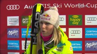 Lindsey Vonn on her 63rd Word Cup win