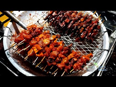 Philippines Street Food Baga Recipe Pork Lung On Stick Food