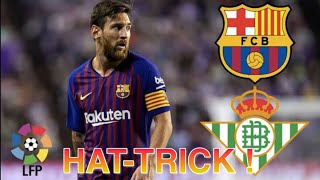 HAT-TRICK Messi ! Barcelona 4 x 1 Real Betis ! ALL Goals ! 17/03/2019 .