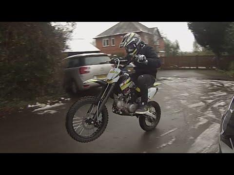 Wheelies! On A KM125MX Dirt Bike M2R!