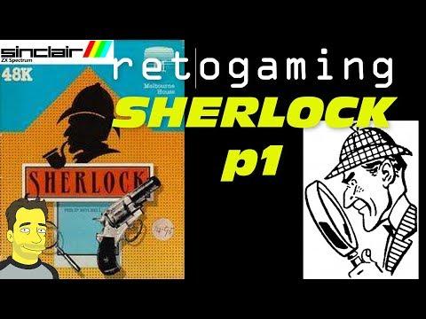 Retro Gaming EP 50 Zx Spectrum Sherlock adventure game  gameplay