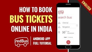 How to book Bus Tickets online in India | Redbus Android App | Step by Step Tutorial | In English screenshot 5