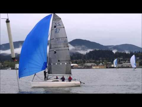 sailboat Antrim 27 driven by Tim called 11 racing Hravn April 14 driven my  Todd