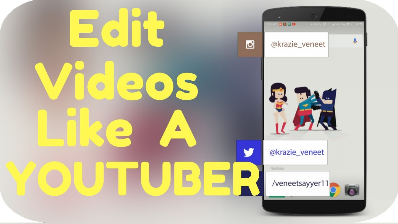 How to edit your android screen like a youtuber youtube how to edit your android screen like a youtuber ccuart Image collections