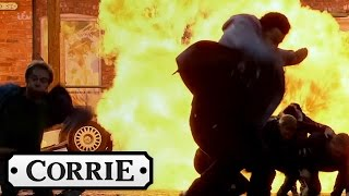 Coronation Street - David's Car Causes Huge Explosion