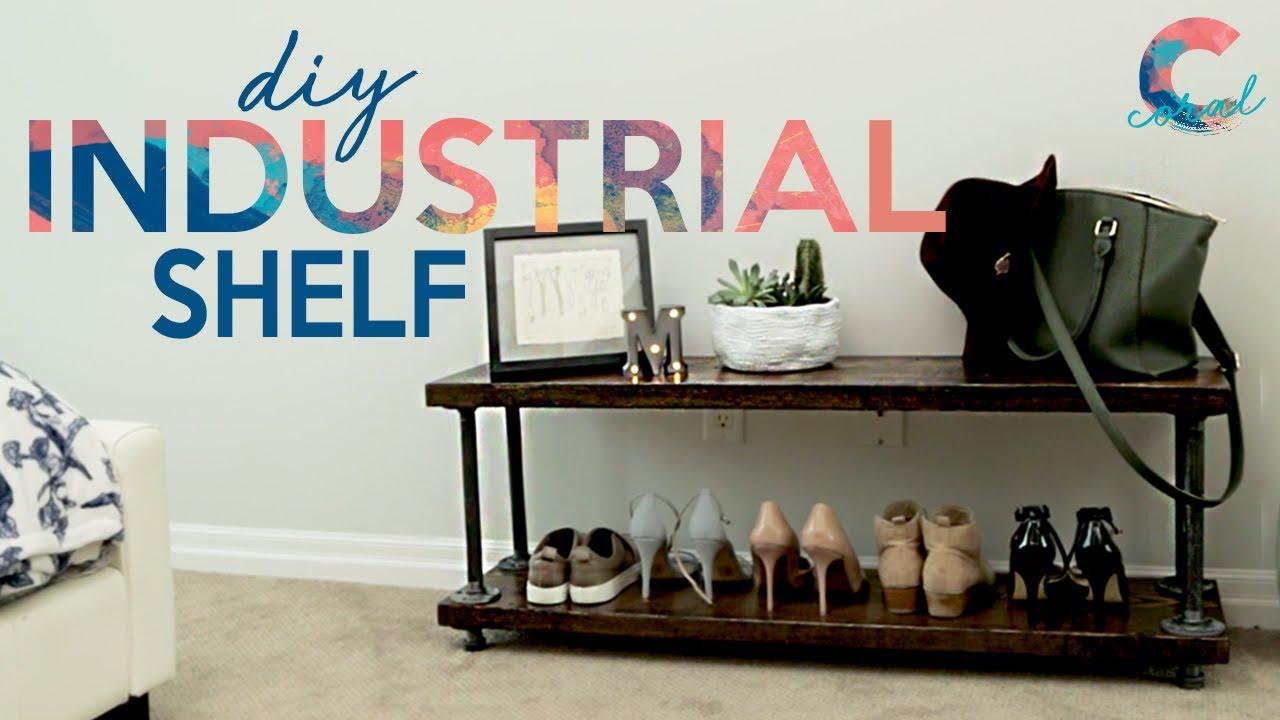 the easiest industrial shelf diy