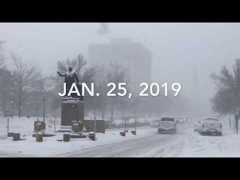 Snow Storm Hits Watertown, NY 1/25/19