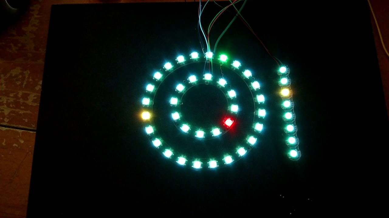 LED Clock Rings Neopixels - 12 and 24