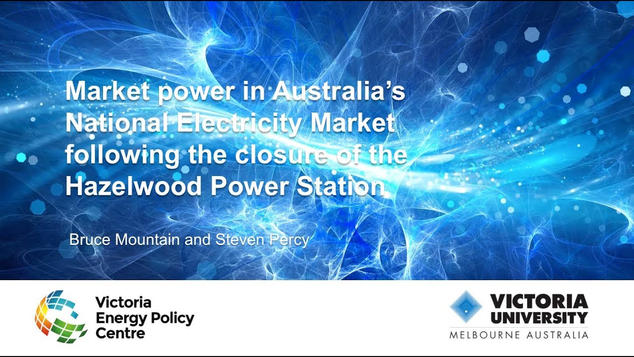 Market Power in Australia's National Electricity Market