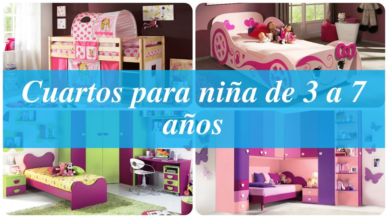 Cuartos para ni a de 3 a 7 a os youtube for Ideas para decorar habitacion nino 10 anos