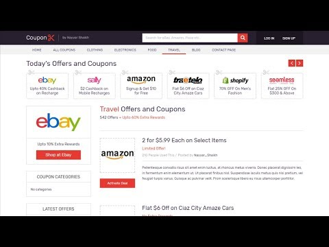 How to Make a Coupon Website in WordPress - 2018