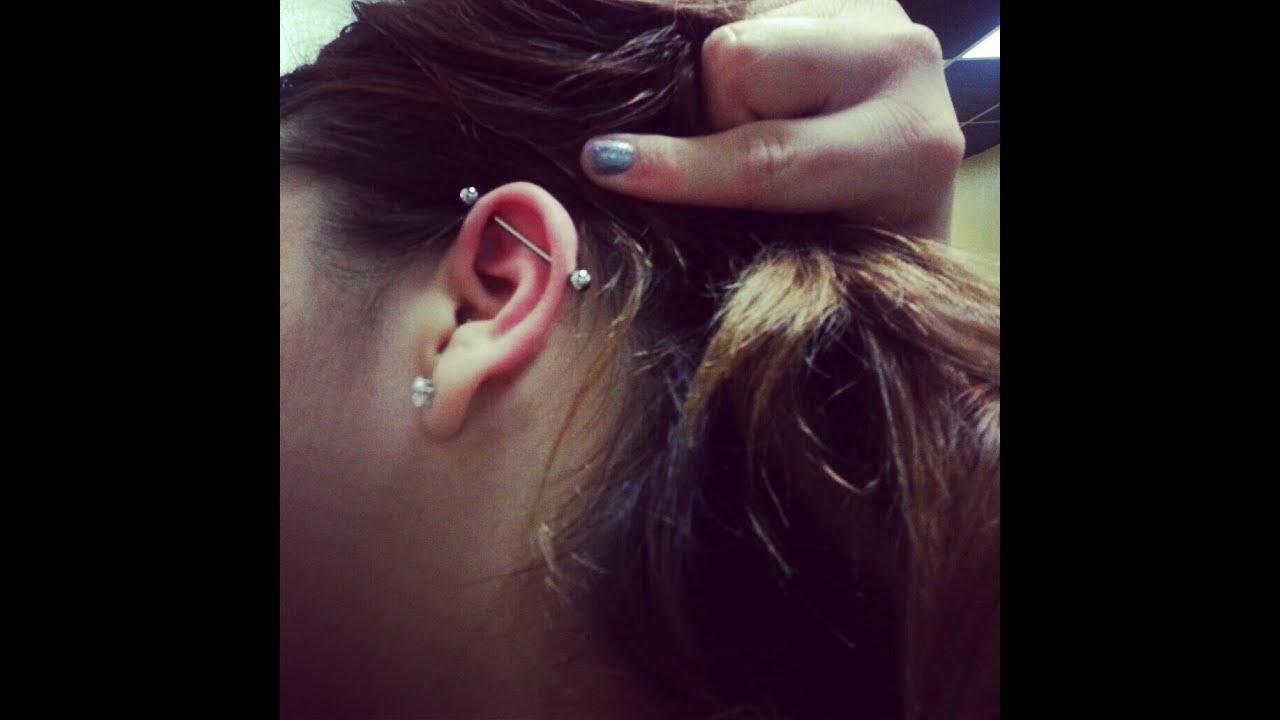 Industrial Bar Piercing - YouTube Ear Piercings Names