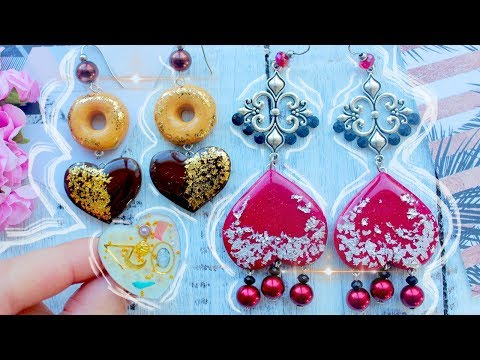 3 AMAZING DIY Jewelry with Epoxy Resin  ❤ Earrings and Ring