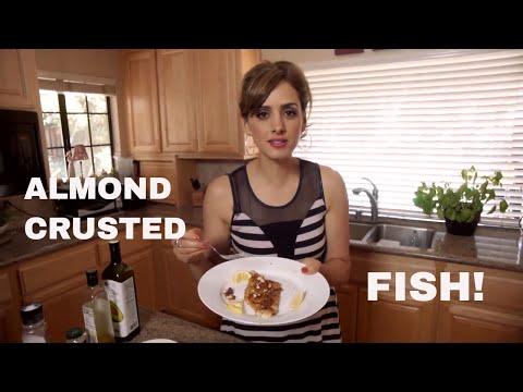 Almond Crusted Fish  In Under 10 Minutes!  ساماك مع اللوز