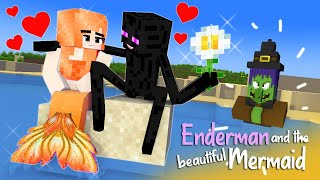 "PART 4: ""Enderman and The Beautiful Mermaid"": Unexpected Ending! : SAD Monster School Minecraft"