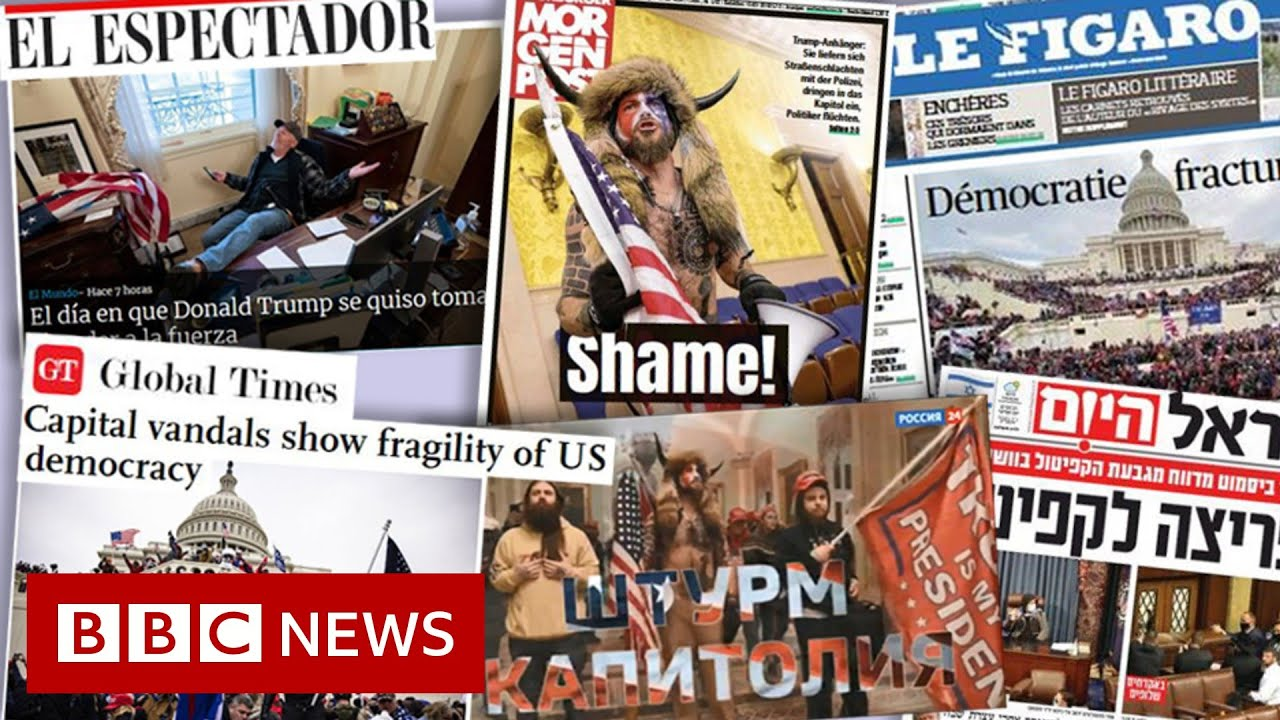 US Capitol riots: How the world's media reacted - BBC News
