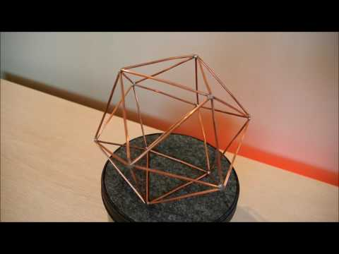 Icosahedron wireframe (actual model) rotating