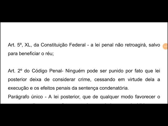 Retroatividade da lei penal e abolitio criminis na prática