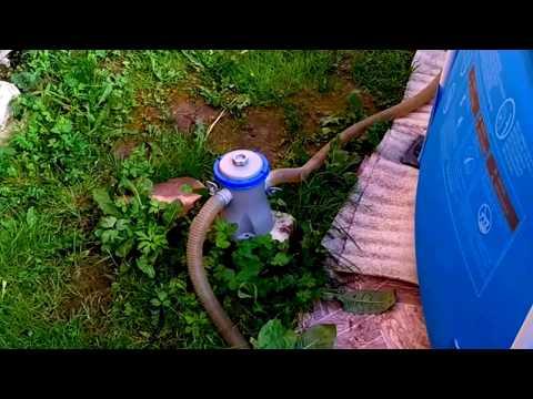 Осветление мутной воды в бассейне, бюджетным способом.