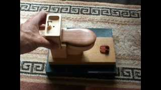 Karakuri Toilet Japanese Puzzle Box Crafted By Tatuo Miyamoto !