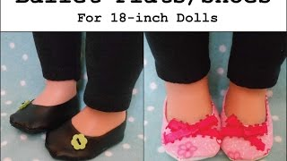 How to Make Ballet Flats / Shoes for an 18 inch Doll