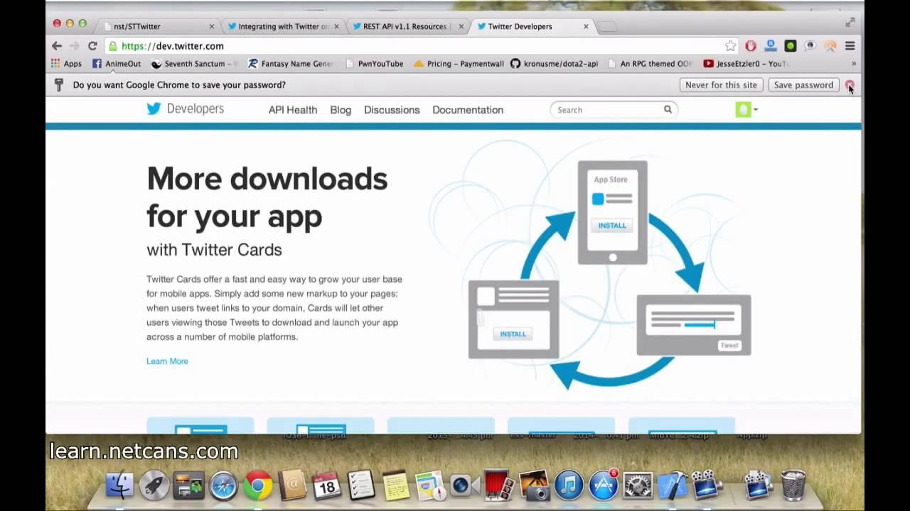 xcode integrate twitter api using sttwitter part 1/5 - tutorial