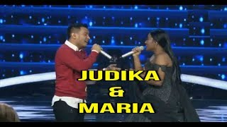 Bikin Merinding Suaranya...JUDIKA duet with MARIA - Indonesian Idol Top 7 Spekta Show 5 Maret 2018