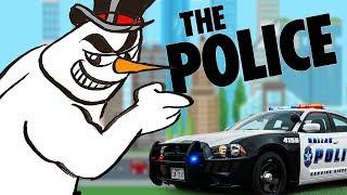 Oficiales de Policía Amenazan Disparar El Hombre de las Nieves
