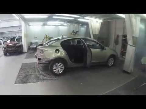 Кузовной ремонт, замена пола Reno Fluens, покраска авто.