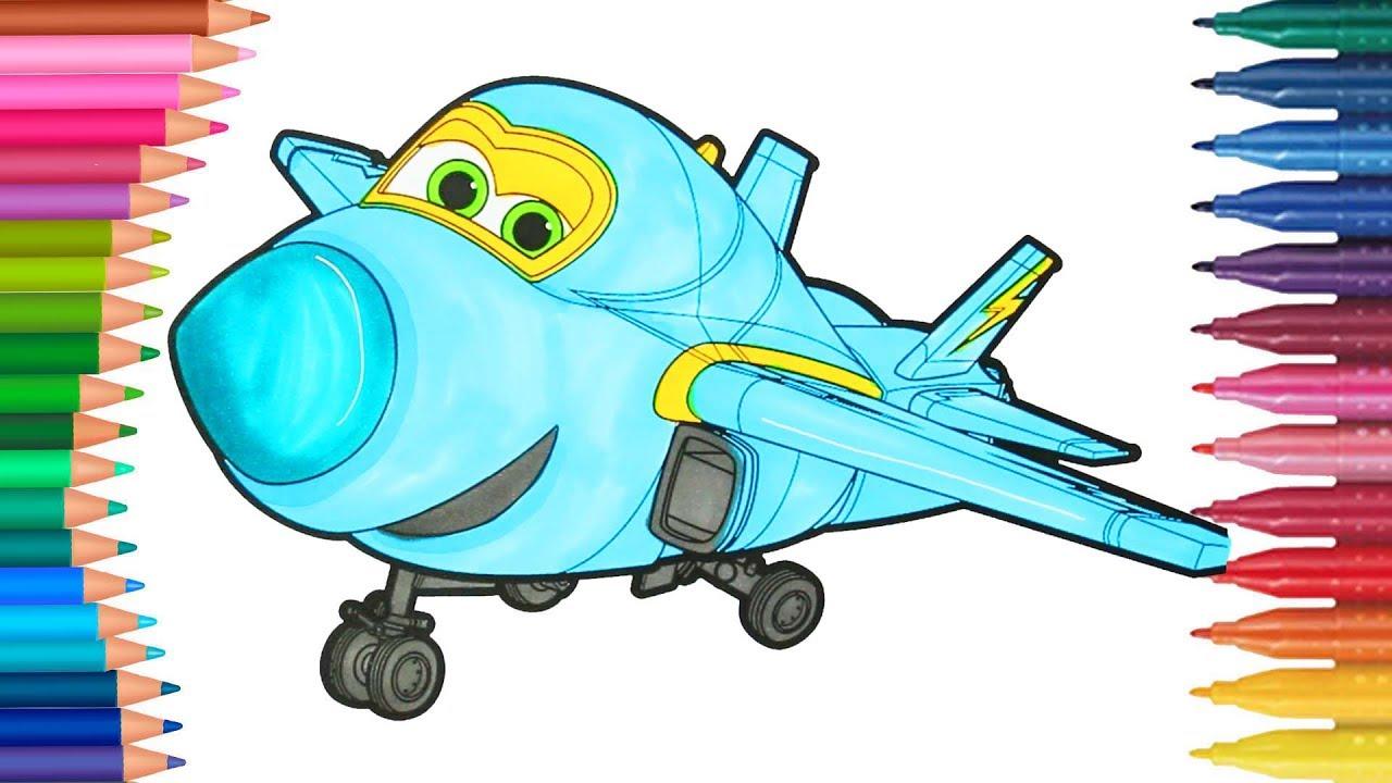Flugzeug Super Flügel Ausmalbilder Färbung - Kleine Hände Malbuch ...