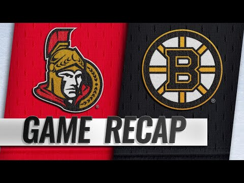 Bergeron's fourth hatty powers Bruins past Senators