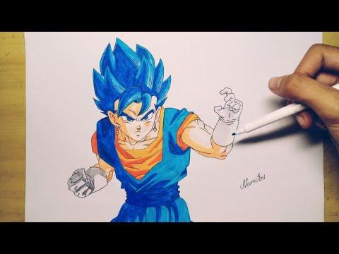 [NamArt] Vẽ Vegito SSJ Blue