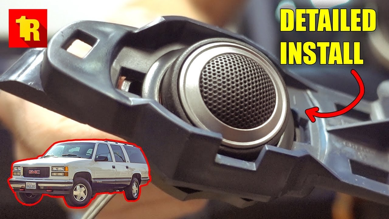 1995 1999 Gmc Chevy Truck Front Speaker Install Replacement Youtube