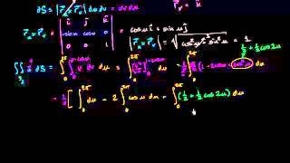 التكامل السطحي مثال 3 (جزء 2)