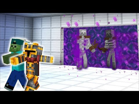 Minecraft STAY AWAY FROM THIS DANGEROUS PORTAL IN MINECRAFT !! HELPING MY ZOMBIE MARK !! Minecraft
