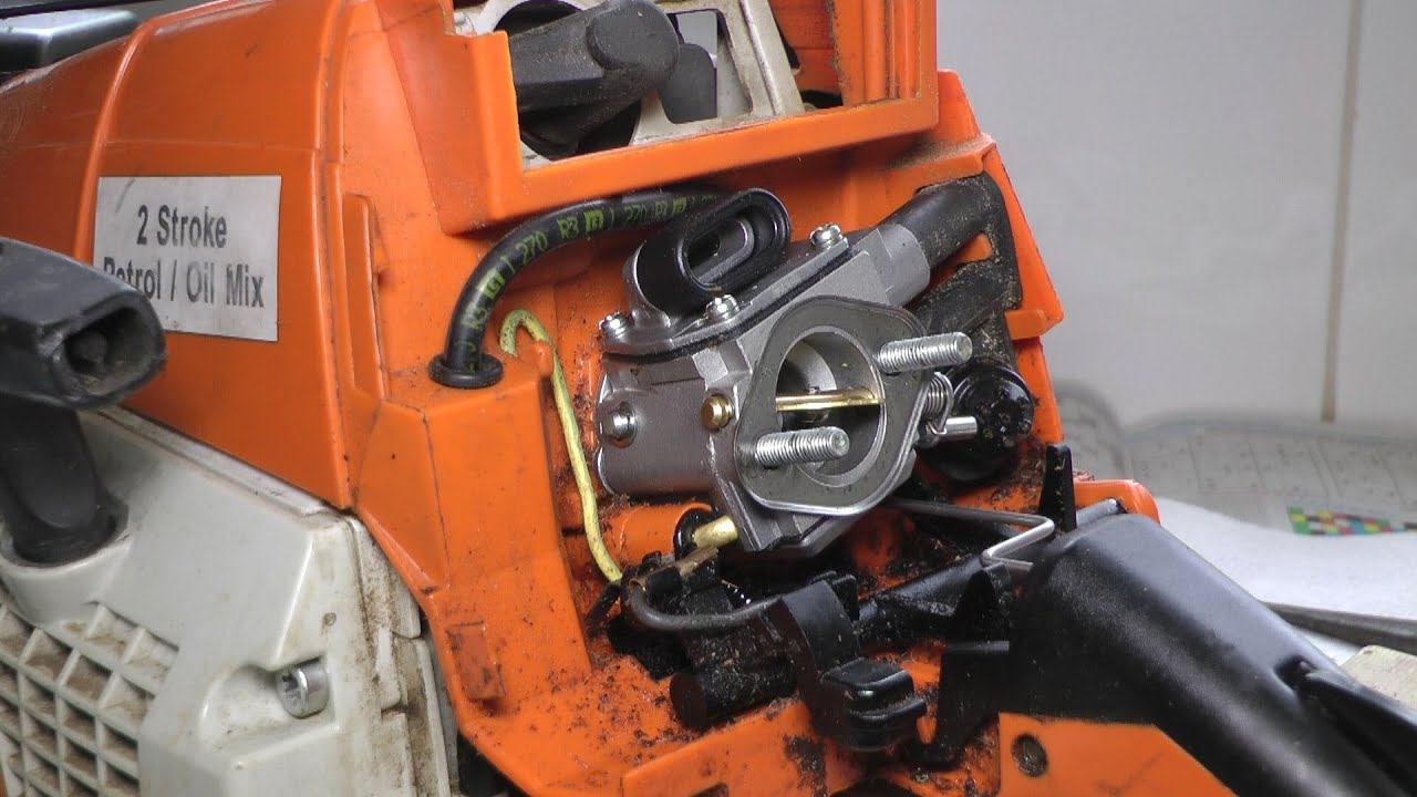 Stihl MS290 carburetor clean & rebuild  YouTube